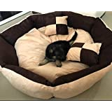 """PetsMaker"""" Deluxe Pet Bed For Dogs And Cats Velvet Ultra-Soft Plush Solid Pet Sleepeer -XXXL"""