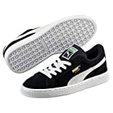 Puma - Suede Jr - 355110 - Baskets mode - Garçon - Noir (Black/White) - 36 EU