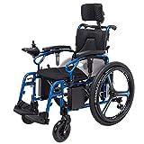 ACEDA Elektrischer Rollstuhl Mit Kopfstütze, Intelligente Automatische Elektrorollstuhl,Mit USB-Ladeanschluss,Sitzbreite 46Cm(Kann 150Kg Unterstützen)