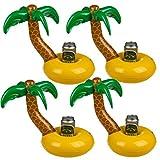 Bada Bing 4er Set Aufblasbare Getränkehalter Palme Mit Insel Schwimmring Garten Pool Deko 91