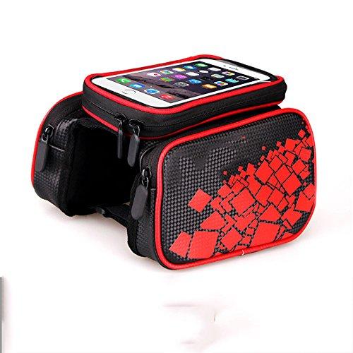 LWJgsa Fahrrad Zubehör Tasche Reiten Ausrüstung Upper Tasche Geometric red