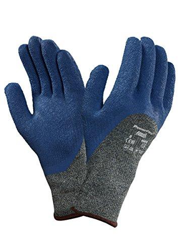 Ansell PowerFlex 80-658 Gants de protection contre les coupures, protection mécanique, Bleu, Taille 9 (Sachet de 12 paires)