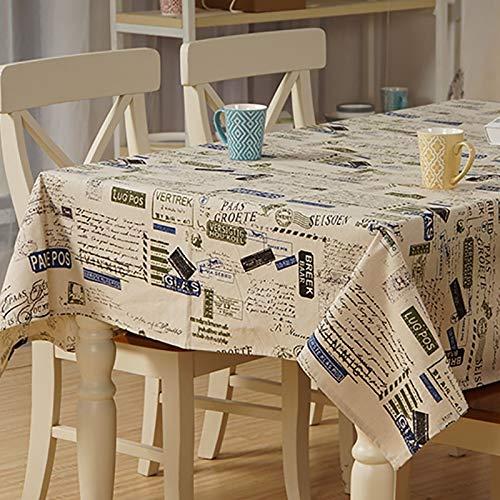 Bettwäsche Tischdecke Europa Brief Stempel Home/Outdoor/Partei Table Cover Toalha Manteles para De Mesa Mesa Nappe De Tisch Tischdecke, 120 x 160 -
