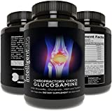 ★#1 Best Glucosamine On Amazon ★ Triple Strength Glucosamine Sulphate Complex 1500mg ★ With Boswellia, Chondroitin, MSM and Tumeric ★