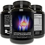 ★#1 Best Glucosamine On Amazon ★ Triple Strength Glucosamine Sulphate Complex 1500mg ★ With Boswellia, χονδροϊτίνη, MSM and Tumeric ★