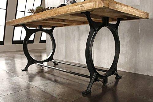 Mobili in legno massello stile industriale tavolo da for Tavolo stile industriale
