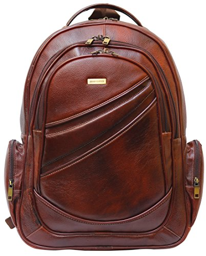 BRAND LEATHER 20 Ltrs Brown Leather Laptop Backpack Image 2