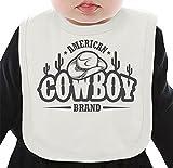 American cowboy Organic Bib W/ Ties  100% Organic Ring-Spun Combed Cotton  Soft & Comfortable Bib Made W/ Eco-Friendly Materials  Unique Baby Clothing By Bang Bangin Medium