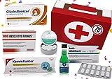 70. Geburtstag | Erste Hilfe Set Geschenk-Box, witziger Sanikasten | 8-teilig | Scherzartikel zum 70. Geburtstag