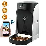 WOPETS APP Automatischer Futterautomat mit Echtzeit-Kamera, Sprachaufnahme, Timer für Hunde ( Groß, Mittel und Klein ) und Katzen