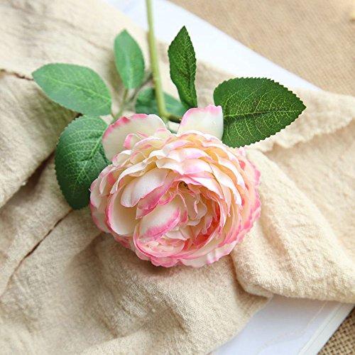 MDenker Kunstpflanze,Wohnaccessoires & Deko Kunstblumen Künstliche Seide Kunstblumen Blatt Hochzeit Blumen Dekor Bouquet Rose Unechte Blumen