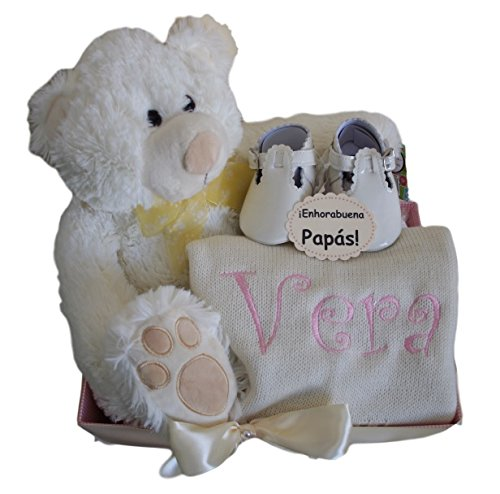 Canastilla Vera, regalo personalizado ideal para bebé niña