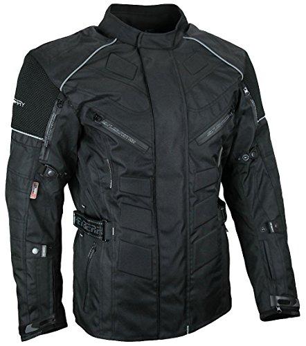 *Herren Touren Motorradjacke Textil Heyberry schwarz Gr. XXL*