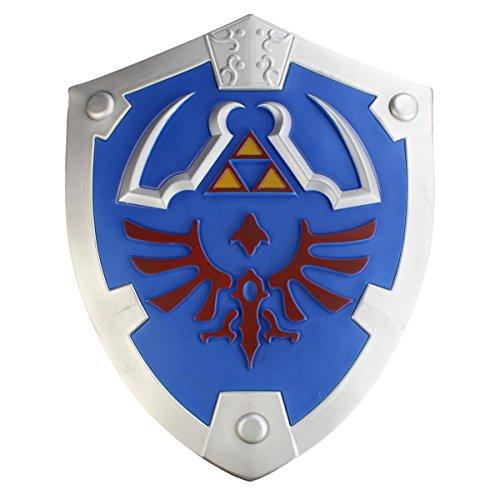 Links Hyrule Schild als Polsterwaffe aus (Kostüm Twilight Princess Link)