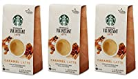 Starbucks VIA Instant Caramel Latte 5 Packets (Pack of 3, 15 Packets Total)