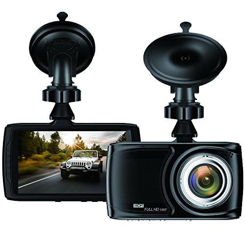 """BUIEJDOG Dashcam 3.5"""" Auto Camera 1080P Autokamera mit 170° Weitwinkelobjektiv, WDR, Bewegungserkennung, Parkmonitor, Loop-Aufnahme, Nachtsicht und G-Sensor"""