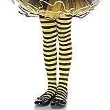 Leg Avenue 4710  - Gestreifte Strumpfhose, Größe: XL, schwarz/gelb