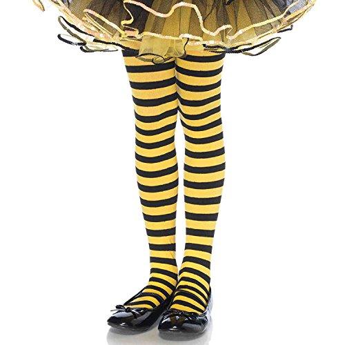 estreifte Strumpfhose, Größe: XL, schwarz/gelb ()
