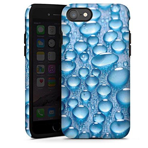 Apple iPhone X Silikon Hülle Case Schutzhülle Tau Wasser Tropfen Tough Case glänzend