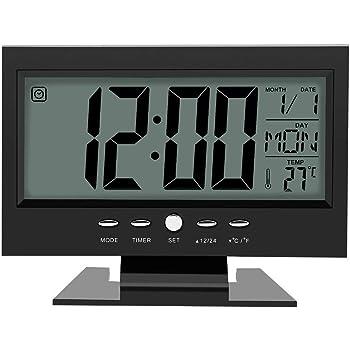 Office & School Supplies 2019 Neuestes Design Neue-moderne Digitale Wecker Lcd Display Kalender Snooze Thermometer Wecker Büro Desktop Tisch Uhr