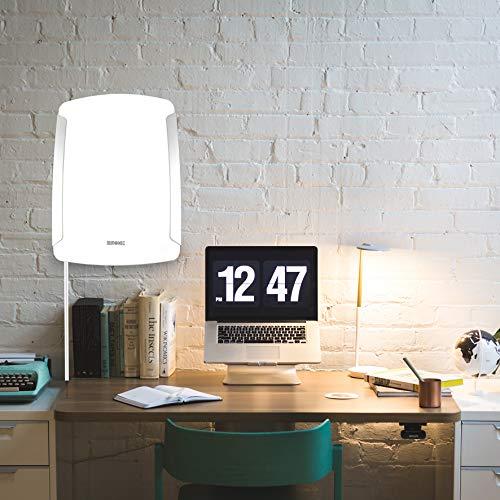 Duronic SADV1 Lampe de luminothérapie 10 000 Lumens - Médicalement certifié 93/42/CEE - Lampe à lumière du jour pour traiter le trouble affectif saisonnier