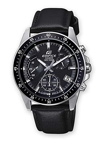 Casio orologio cronografo quarzo uomo con cinturino in pelle efv-540l-1avuef