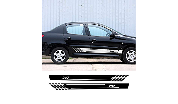 ZYHZJC 2PCS Autot/ür Seite Vinyl Rock Streifen Aufkleber Auto Dekor Aufkleber Wasserdicht Karosserie Verkleidung Zubeh/ör f/ür Honda CR-V