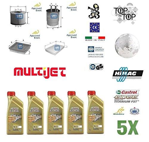 Preisvergleich Produktbild UFI Filter Fiat Croma (194) 1.9MJTD 85–88–100–110kW + 5L CASTROL MAGNATEC C35W40