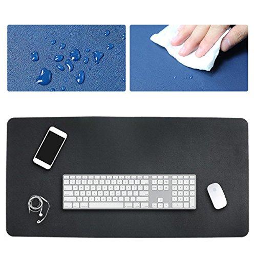 Leder Dvd-rack (80x40cm beide Seiten Zwei Farben erweiterte PU Leder Maus Pad Matte große Büro Gaming Schreibtisch Matte - Pink+Weiß)