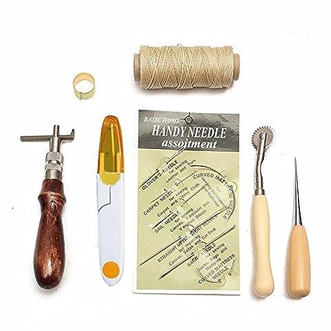 Poincon Couture Alene - Hrph 7pcs Kit Outils de Couture Cuir