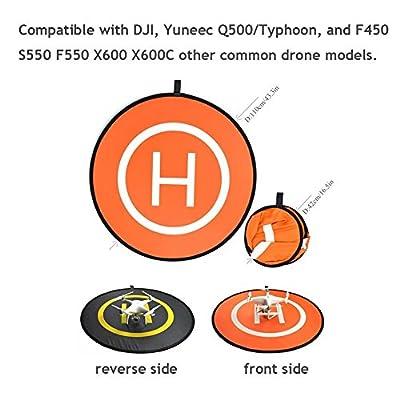"UNIKEL PGYTECH 43.3"" (110cm) Universal Portable Helipad, Fast-Fold Drone Landing Pad for RC Drones Helicopter DJI Mavic Pro, Phantom 2/3/4/4 Pro, Inspire 2/1, Spark"