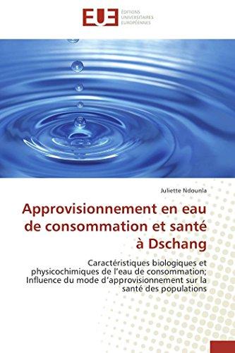 Approvisionnement en eau de consommation et santé à dschang