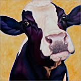 Posterlounge Canvas print 120 x 120 cm: Cow Gertie by Renate Berghaus - ready-to-hang wall picture, stretched on canvas frame, printed image on pure canvas fabric, canvas print