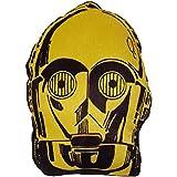 daum–Pimp Up Your Life 16011–Disney Star Wars Forma Cojín C-3PO, peluche, 19cm