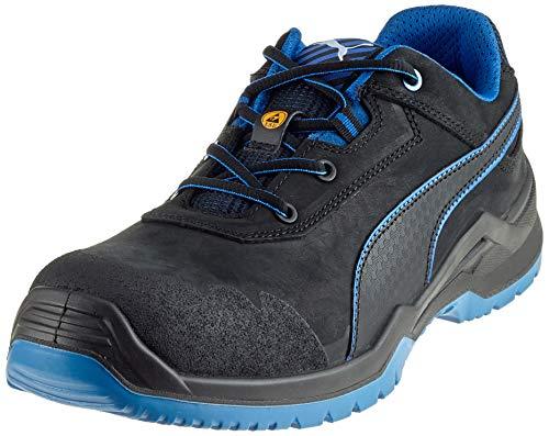 Puma 644220 Argon Blue Low - S3 Sicherheitsschuhe 48 Schwarz/Blau
