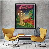 Nordic Style Home Decor Canvas Prints Painting Queen of Wands Psychedelic Goddess Pictures Wall Art for Bedroom Modular Poster-50x70cm No Frame