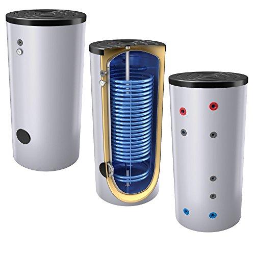 400 Liter emaillierter Hochleistungs-, Warmwasserspeicher / Trinkwasserspeicher / Wärmepumpenspeicher, mit 1 Wärmetauscher, inkl. Isolierung, Magnesiumanoden u. Thermometer