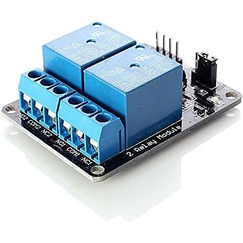 Neuftech® módulo relay relé de 2 canales 5V Shield para Arduino PIC AVR DSP MCU