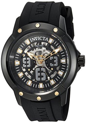 Invicta 22632 - Reloj de Pulsera Hombre, Silicona, Color Negro