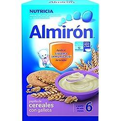 Almirón Papilla de cereales con galletas - Paquete de 2 x 250 gr - Total: 500 gr