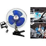 Jhua 12V 8 pulgadas Oscilante del Ventilador del Coche Vehículo Ventilador de Refrigeración con Clip y Enchufe de Encendedor del Coche