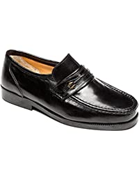 4560ca4ca9f4 Mens Leather Wide Fit Moccasin Slip On Dress Formal Shoes Size 6-12