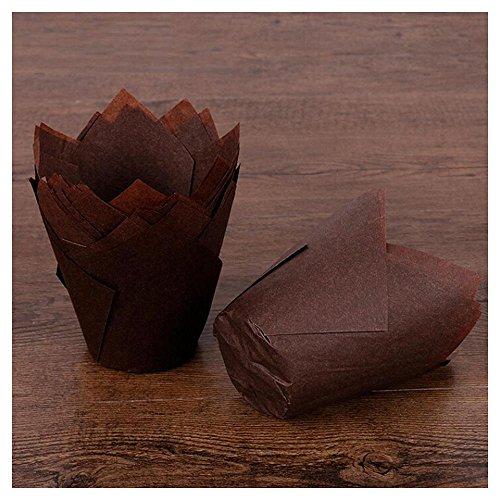 ulpenförmchen aus gefaltetem Papier, Backformen für Cupcakes und Muffins. coffee (Brown-papier-platten)