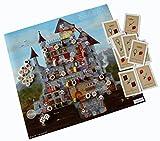 Brettspiel Ritter: Burg Glitzerstein, Das 3-in-1-Spiel: 1 Spielplan, 3 Burgen-Spiele