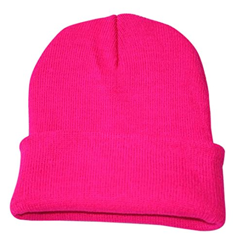 Unisex Mütze TUDUZ Damen Herren Warme Winter stricken Ski Beanie Schädel Slouchy Hip Hop-Kappe (Pink)