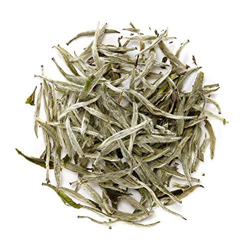 51sv3LG5cwL - Silver Needle Weißer Tee - Weisser Silbernadel Tee China - Chinese Bai Hao Yin Zhen - Baihao Yinzhen 100g