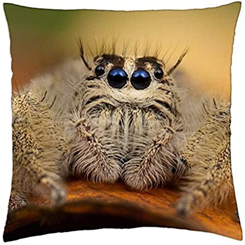 VERY HAIRY SPIDER - Throw Pillow Cover Case (18 - Hairy Spider Decoration