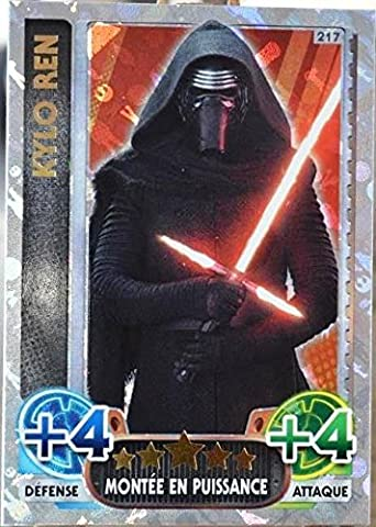 carte TOPPS STAR WARS 217/224 Kylo Ren Holographique SW Force