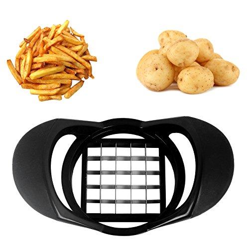 Gemüseschneider,Pommes-frites Schneider Edelstahl Gemüseschneider für Kartoffeln und Obst leicht zu reinigen Geeignet für Geschirrspülmaschinen