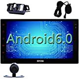 Eincar Android 6.0 voiture Radio stéréo 7 pouces Double Din Head Unité de soutien GPS Sat de navigation, Bluetooth 4.0, MirrorLink, WiFi 3G 4G, AM Radio FM RDS, Condition féminine Canada, 64GB SD USB, HD 1080P, OBD